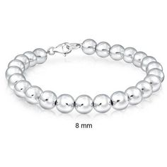 Bling Jewelry Stay Silver Bracelet ($40) ❤ liked on Polyvore featuring jewelry, bracelets, grey, strand-bracelets, silver jewelry, bridal jewelry, bridal jewellery, grey jewelry and silver bead jewelry
