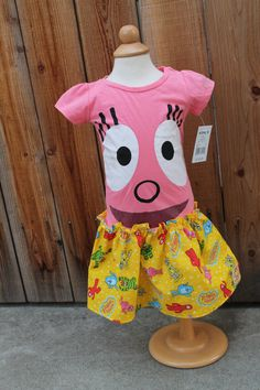 Yo Gabba Gabba Foofa Dress  Size 2T by ninisayssew on Etsy, $21.95