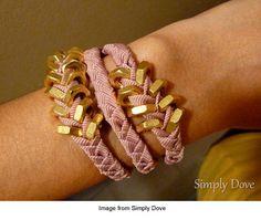 Hex Nut Bracelet with Ribbon