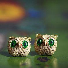 vakre populære ugle nydelig dame ørepynt – NOK kr. 17 Owls, Cufflinks, Stud Earrings, Popular, Lady, Wedding, Animals, Accessories, Beautiful