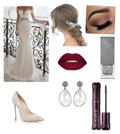 """Wedding look"" by ella-mair on Polyvore featuring Casadei, Smashbox, Burberry and tarte"