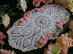 made to order crochet doily- holiday doily Thread Crochet, Crochet Doilies, Crochet Yarn, Lace Patterns, Crochet Patterns, Crochet Home, Beautiful Patterns, Table Runners, Elsa