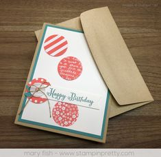 """Remembering Your Birthday stamp set paved the way for afresh, fun, """"big girl"""" card for my grandniece, Eleni. Daily tips & 1000+ card ideas!"""