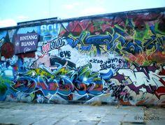 Graffiti à Yogyakarta, Java. #voyage #streetart