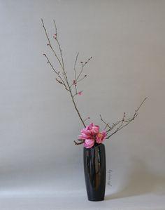 vase, ikebana, floral