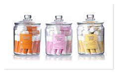 lip balm displayed in jars