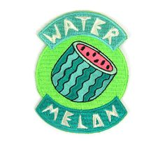Watermelon Iron On Patch by MokuyobiThreads on Etsy https://www.etsy.com/listing/237785369/watermelon-iron-on-patch