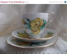 ON SALE Paragon cup saucer and plate trio  by Collectablesgalore