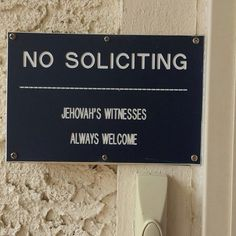 This is kinda funny cuz JW'S don't solicit anyway. Nothing is being sold. Jehovah S Witnesses, Jehovah's Witnesses Humor, Jehovah Witness, Jw Humor, Spiritual Encouragement, Bible Truth, Happy People, In This World, Spirituality