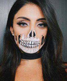 Halloween schminken - New Ideas Cute Couple Halloween Costumes, Halloween Inspo, Halloween Makeup Looks, Halloween Cosplay, Scary Makeup, Skull Makeup, Adulte Halloween, Cool Makeup Looks, Special Effects Makeup