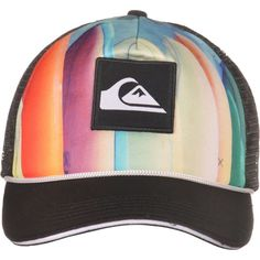Boné Quiksilver Option Trucker - Laranja  0b1a121972b
