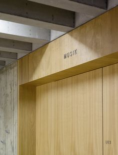 Signage inside the Mörike Gymnasium by Klumpp and Klumpp Architekten.