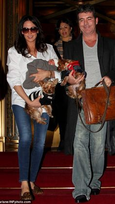 Simon Cowell, girlfriend, Lauren Silverman, newborn baby Eric & their two Yorkshire Terriers . Prove Love, Baby Momma, Simon Cowell, Yorkshire Terriers, Love Can, Couples In Love, Celebrity Couples, Girlfriends, Sons