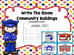 Community+Buildings+Write+the+Room+has+12+community+buildings+++1/4+page+size+(see+thumbnails),+a+recording+sheet+and+2+sentence+writing+pagers.This+will+be+a+perfect+addition+to+your+community+helper+study.++-Bank+-+Cinema++-+Fire+Station+-+Garage++-+Gas+Station+-+Grocery++-+Hospital+-+Library+-+Police+Station+-+Post+Office+-+Restaurant+-+School+Community+Helpers+-+Write+The+RoomCommunity+Helper+BookletCommunity+Helper+Add+The+Room+-Ten+Frames