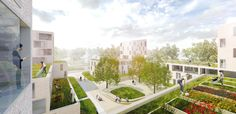 3rd Prize category: Fischbeker Heidbrook, Blick über die Dächer, © eins:eins architekten