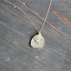 Mid-Flight Bird Druzy Necklace #heart #love #jewelry #necklace #accessories #thealchemyshop
