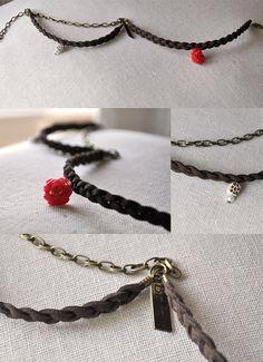Strand Braid Bracelet with Polymer Clay Charms by PolyClayUtopia