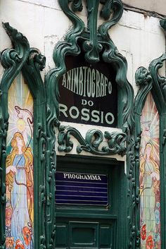 Animatografo Door detail Lisboa, Portugal