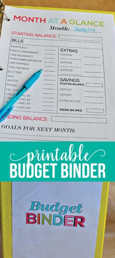 Printable Budget Binder- download these budgeting sheets to get your finances in order. www.thirtyhandmadedays.com