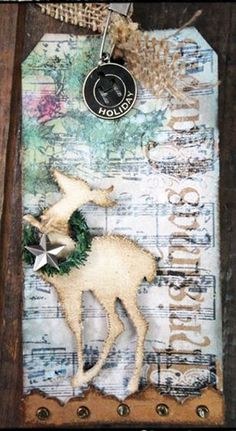 Tim Holtz reindeer is fun