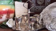 Antique Silver Plated Egg Cup & Stand by Lloyd Payne & Amiel Manchester