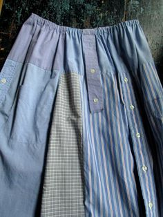 Upcycled Skirt altered clothing boho artsy by MySoftParade on Etsy