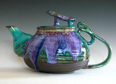 LARGE Teapot Handmade Stoneware Teapot Large Ceramic by ocpottery, $325.00