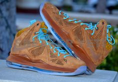 Nike LeBron 10 EXT Suede - Brown & Sea Royal | KicksOnFire