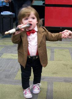 I love babies dressed like Dr. Who!