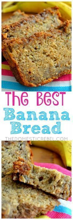 The BEST Banana Bread This Banana Bread truly is the BEST! Supremely moist, fluffy, soft and has great texture with a cinnamon brown sugar streusel on top. The secret ingredient makes it extra delicious! This is the ONLY recipe you need! Just Desserts, Delicious Desserts, Dessert Recipes, Yummy Food, Fruit Recipes, Recipes Dinner, Best Banana Bread, Dessert Bread, Snacks