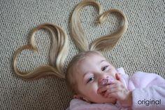 Ahhh! So cute! I wish Aubrey would grow some hair!!