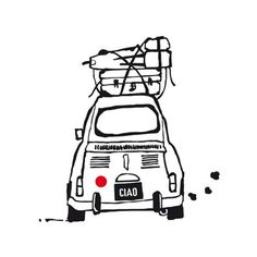 Auto muursticker #kinderkamer | Ciao wall sticker #kids #kidsroom by April and May