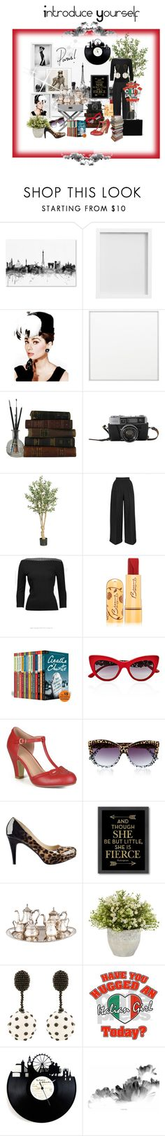 """""""Introduce Yourself"""" by theitalianparisian ❤ liked on Polyvore featuring Pottery Barn, By Lassen, Bésame, Dolce&Gabbana, Journee Collection, Le Specs, Marc Fisher, Americanflat and Oscar de la Renta"""