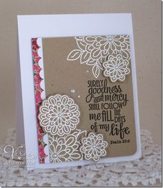 Card by Maureen Plut using the Surely Goodness set from Verve Stamps.  #vervestamps