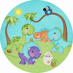 Dinosaur Party, Dinosaur Birthday, Baby Dinosaurs, Watercolor Images, Baby Time, Baby Party, Childrens Party, Party Planning, First Birthdays