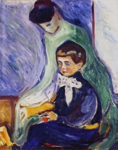 Hans Herbert Esche with Nanny - Edvard Munch 1905 Norwegian 1863-1944 oil on canvas 71.5 x 56.5 cm Private Collection
