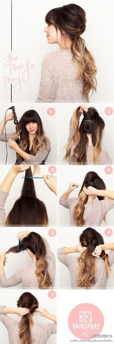 I will never style a ponytail the same way again! I seriously love this