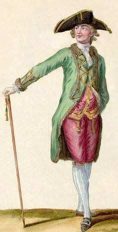 looking good in the pink pants. gotta love 18th century fashion for men.