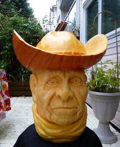 pumpkin cowboy | Pumpkin Carving Contest Winners