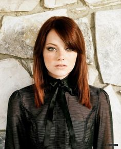Emma Stone. This hair color, i need it.