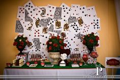 Alice in wonderland party. alice in wonderland party mad hatter Casino Party Decorations, Casino Theme Parties, Birthday Parties, 15th Birthday, Birthday Ideas, Mad Hatter Party, Mad Hatter Tea, Mad Hatters, Queen Of Hearts Alice