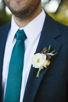 Boutonniere by Gypsy Floral and Events | Vineyards at Chappell Lodge Wedding by Sweet Pea Events - Southern Weddings Magazine