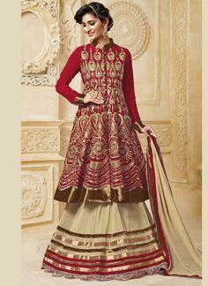Cream and Red Lace Work #Anarkali #LehengaCholi  Buy Now @ http://fashionfiza.com/2160-cream-and-red-lace-work-anarkali-lehenga-choli  #Anarkalisuits #salwarsuits #designersalwarsuits #fancysalwarsuits #Diwalispecialsuits #Festivalspecialsalwarsuits #longanarkalisuits #designersalwarsuits  Grab Now @ http://fashionfiza.com/2160-cream-and-red-lace-work-anarkali-lehenga-choli