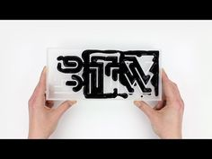 By the way – typography and material behavior on Behance