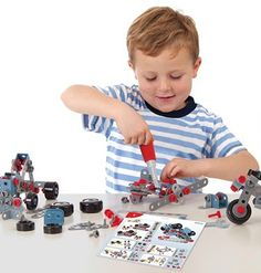 Kids aged 4 years up can have hours of fun with Miniland Mecatech! Teaching them engineering and hand-eye coordination. It includes several formats of flexible platelets, pins, shafts, screws and nuts and various wheel sizes so you can combine all of them together to create multiple possibilities. #STEM http://www.axistoys.com/index.php?route=product/product&filter_name=Mecatech&product_id=1279