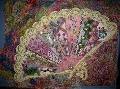 crazy quilt fandango series.  embroidery and embellishments