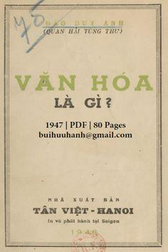 Văn Hóa Là Gì (NXB Tân Việt 1947) - Đào Duy Anh, 80 Trang | Sách Việt Nam Vans, Van