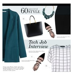 """60-Second Style: Tech Job Interview"" by jecikilicica ❤ liked on Polyvore featuring H&M, Yves Saint Laurent, L.K.Bennett, Zara, Forever 21, Myne, 60secondstyle and techjobinterview"