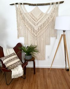 Your place to buy and sell all things handmade Large Macrame Wall Hanging, Yarn Wall Hanging, Wall Hangings, Butterfly Chair, Beautiful Wall, Sell On Etsy, Boho Decor, Diy Gifts, House Warming