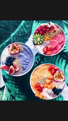 Healthy Drinks, Healthy Snacks, Healthy Recipes, Healthy Breakfasts, Protein Snacks, High Protein, Fruit Smoothies, Fruit Fruit, Smoothie Bowl